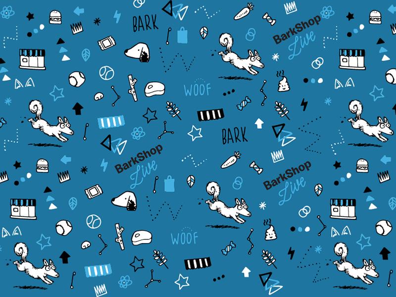 Pattern shop doodle dog pattern