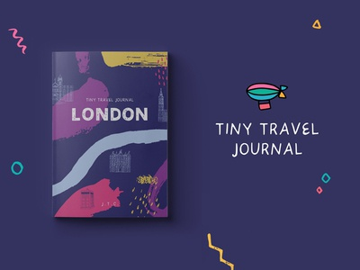 Tiny Travel Journal london planner art notebook drawing colorful stationary travel illustration