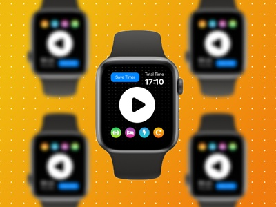 Apple Watch App | FlexN HIIT Timer fitness app watchos ux concept app ui figma react native product design design app design apple watch apple