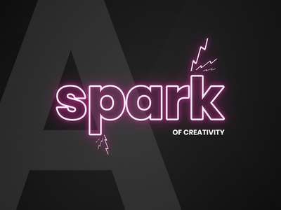 A Spark Of Creativity poppins glow pink neon design figma creativity typography