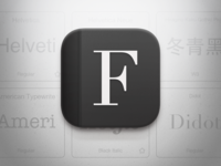 Font List icon for iOS