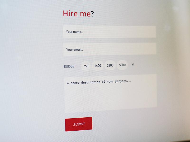 New Portfolio - Hire me form ui diogobessa.com web web-site hire me form input hire me