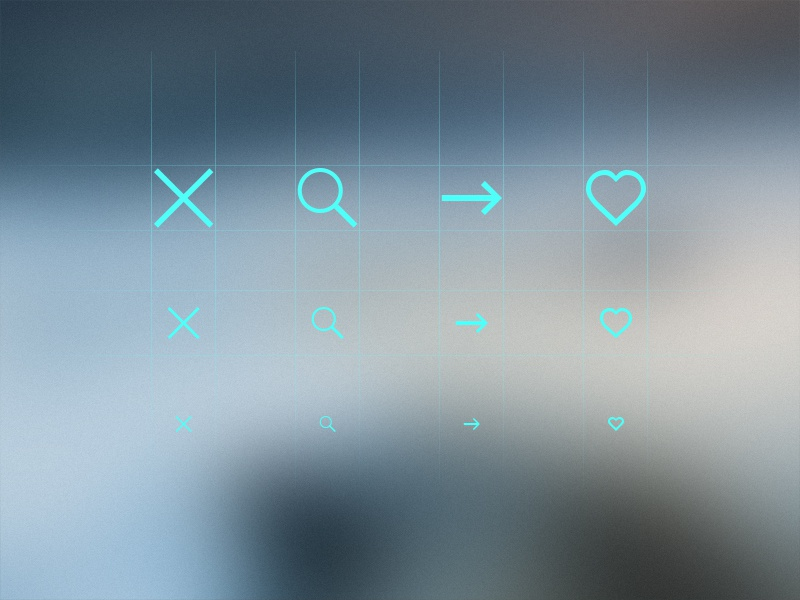 Icon Pack - Comming Soon icon pack clean light cross magnifier arrow heart like ui