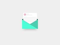 Letter icon, rebound