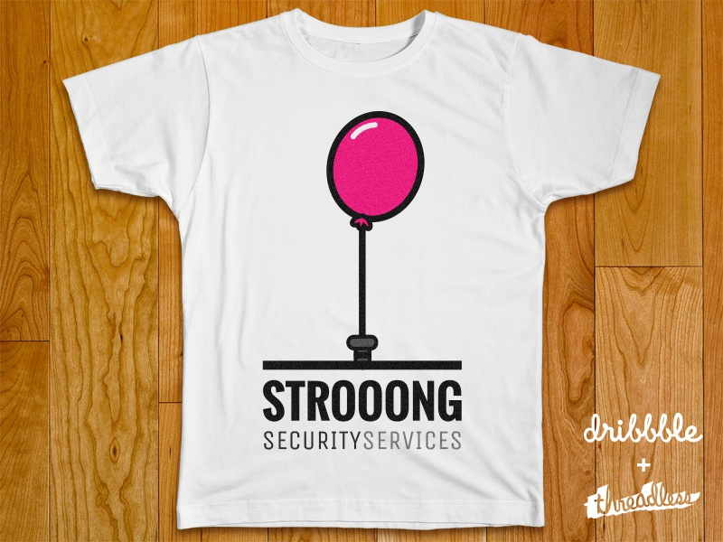 Strooong Tee playoff rebound threadless brand clothing illustration t-shirt tee security services strong strooong