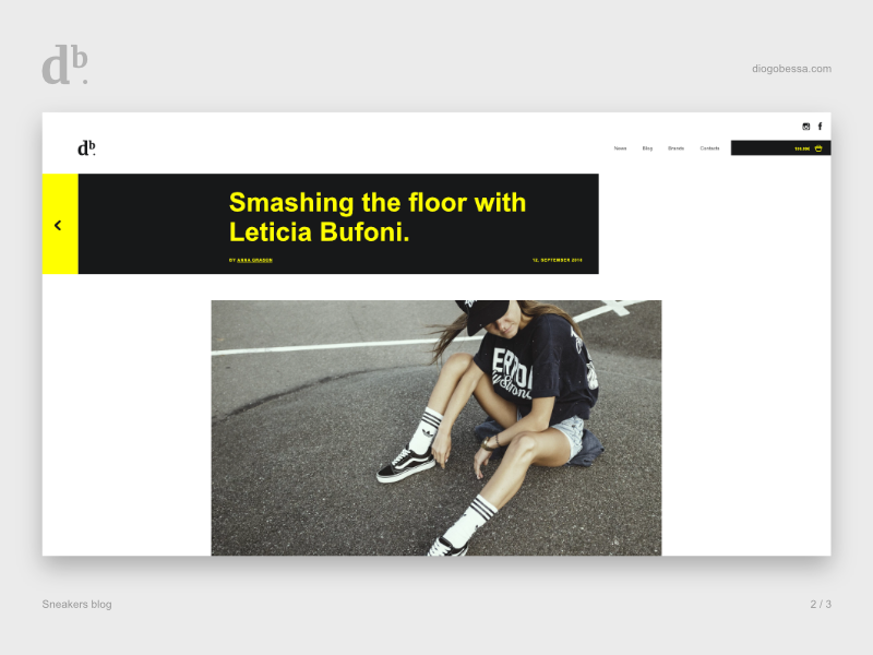 Sneakers Blog - Content page content post uxdesign uidesign website ux  ui ui look and feel first design blog