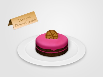 Thanks Richard! dribbble invitation invite cake icon thanks illustration thank you