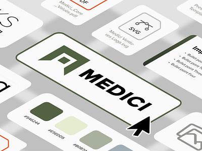 Medici Brand Assets web design illustration branding
