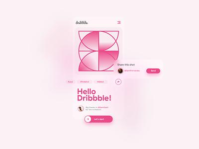 My Dribbble debut! debut flat design minimal website web app branding ux ui