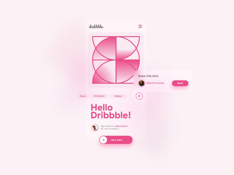 My Dribbble debut! flat design minimal website web app branding ux ui