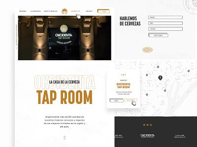 Okcidenta - Website branding webdesign brewery branding web design web typography beer brew brewery ui minimal website