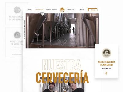 Okcidenta - Website webdesign brewery branding minimal brewing brewery beer typography ui web design website web