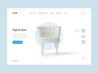 Refurbished furniture presentation clean furniture interface design ui