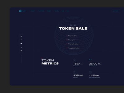 Cryptocurrency website dark ui clean web crypto ui animated