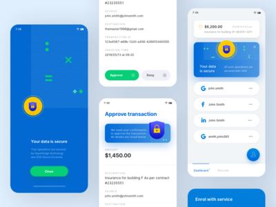 Transfer verification app branding interface application illustration ui design