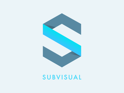 We are Subvisual flat blue new ui branding logo rebrand