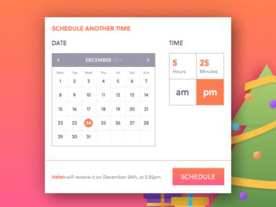 Action Schedule colors schedule time date xmas gift agenda calendar ui