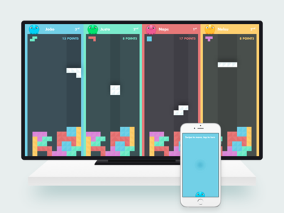 Game Concept for TV entertainment fun pad mobile ui colors tv game airconsole
