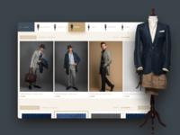 Men's fashion shop view