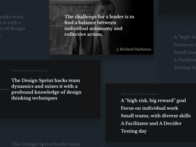 Design Sprint Keynote slides typography dark sprint design sprint keynote presentation