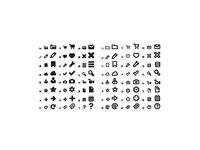 Chubbicons: a chubby icon set in fill and outline versions