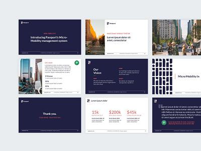 Passport Slide Deck Re-Design presentation design sales deck presentation slide deck