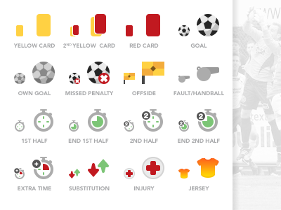 Football (Soccer) Icons - PSD Freebie