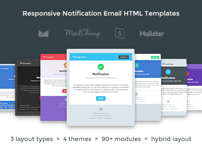 Notification Email Templates By Ionutz Oroian Dribbble - Transactional email templates