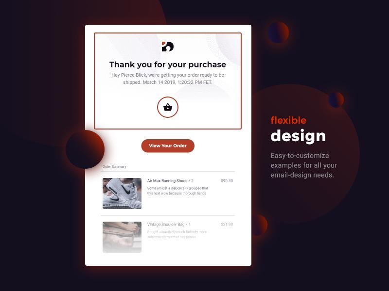 Features fresh trend modern minimal gradient design email