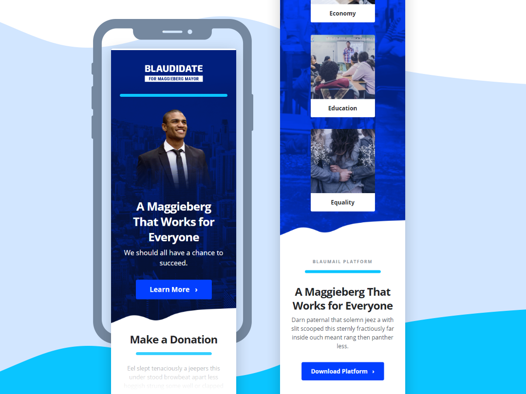 Political Candidate Newsletter 📧 politics candidate political campaign responsive email branding notification email templates responsive emails email design