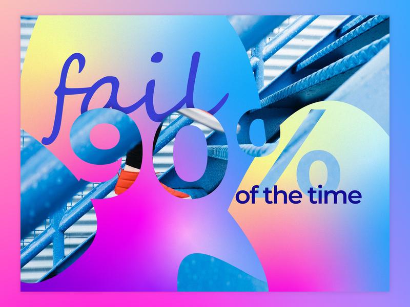 Fail... a Lot photoshop graphic design clean illustrator website web app icon typography ux vector branding ui logo illustration depth gradients blend abstract design