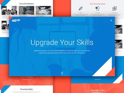 Landingpage photoshop graphic design clean illustrator web app icon typography ux vector branding ui logo illustration learning education skills website landingpage design