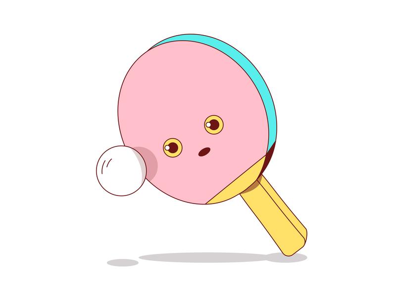 Pong photoshop graphic design clean illustrator website web app icon typography ux branding ui logo playfull racket ball table tennis vector illustration design
