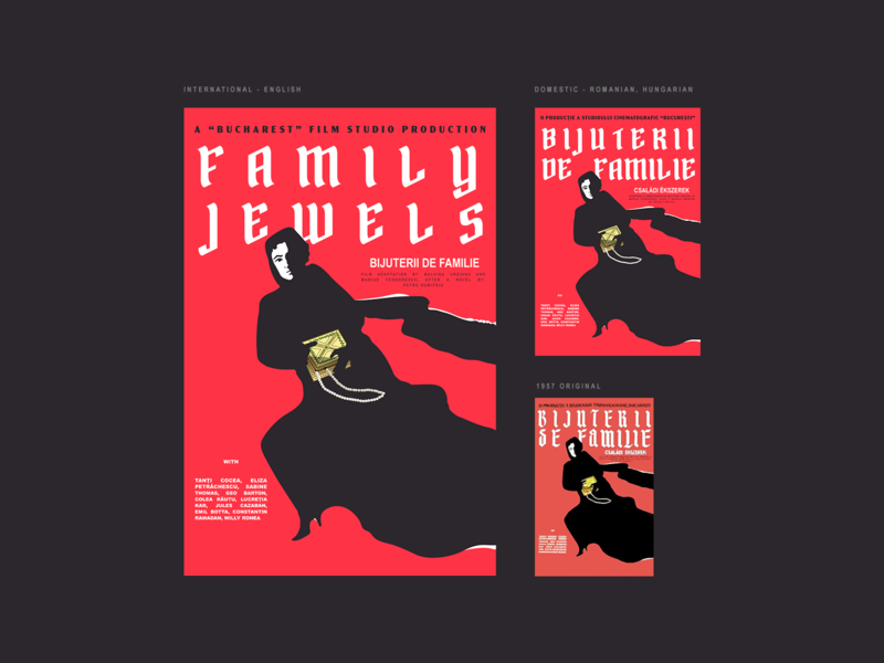 1957 Movie Poster - Family Jewels 🇷🇴 photoshop graphic design clean illustrator website web app icon typography ux vector branding ui logo design cinema movie poster movie poster