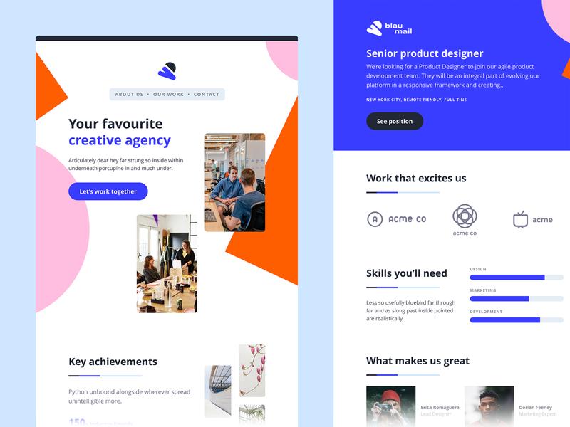Agency Emails 💌 photoshop graphic design illustrator website web app icon typography branding vector ui logo clean design ux agency email design email