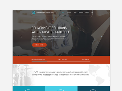 PMTS Website Redesign Concept
