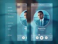 (2013) Music Player - Side Menu