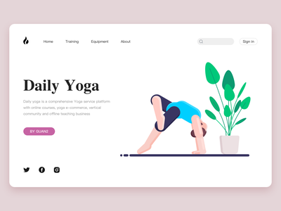 Daily  Yoga branding ui icon design illustration