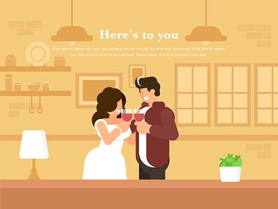 Love typography ui web illustration branding design
