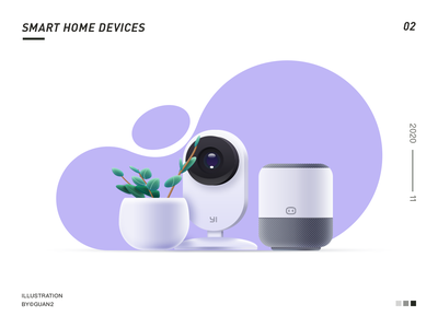 SMART HOME DEVCES flat icon design ui illustration