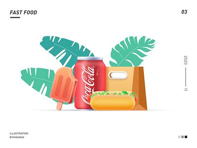 FAST FOOD ui illustrator icon illustration design
