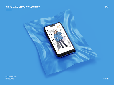 FASHION AWARD MODEL 02 flat typography icon illustrator illustration design
