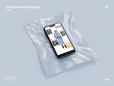 FASHION AWARD MODEL 04 illustrator typography ui illustration design