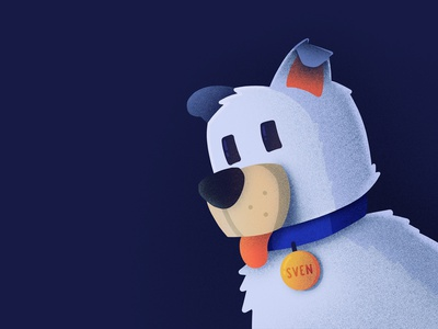 Sven (Best Icons of the Month) procreate cute character pewdiepie minecraft sven dog illustration icon