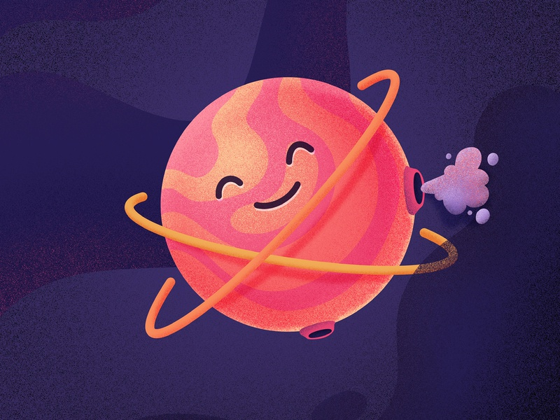 Best Icons of the Month! fart cute smile happy emoji character space planet illustration icon
