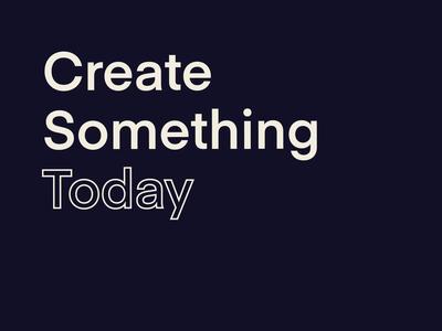 Create Something Everyday! 🙃 inspiration everyday animation smile emoji iconutopia create quote