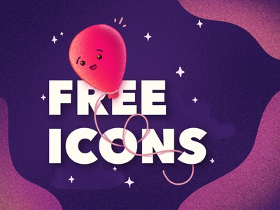 FREE ICONS - Grab em! floating stars space night smile emoji character cute happy balloon icons free illustration
