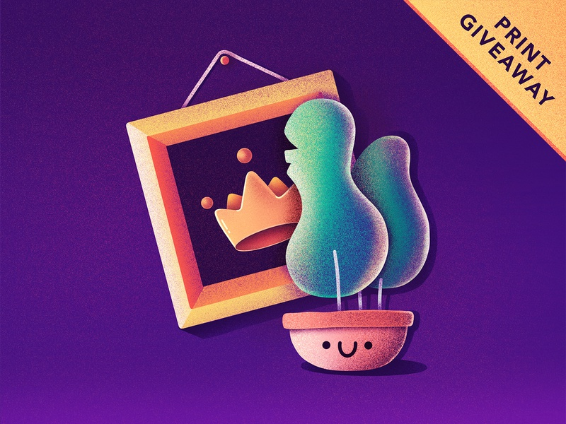 PRINT GIVEAWAY! store tree character cute wallart wall picture frame plant giveaway print illustration
