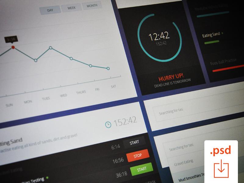 Free PSD: Time Graph UI ui free psd time graph clock flat free psd freebie user interface studio4 justas