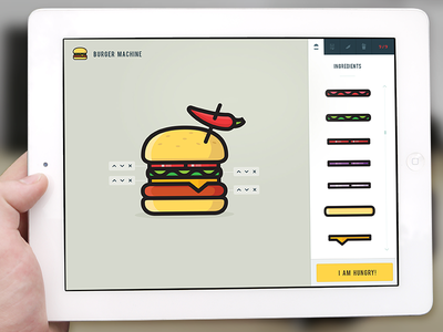 Burger Machine burger mashine app justas studio4 application hungry